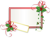 Christmas card with holly berries. Illustration Royalty Free Stock Images