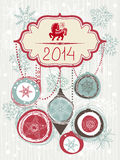 2014 Christmas card Stock Images