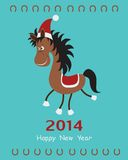 Christmas card with horse.  Stock Image
