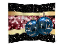 Christmas card illustration. Background Christmas balls card illustration Stock Photography