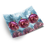 Christmas card illustration. Background Christmas balls card illustration Royalty Free Stock Photography