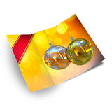 Christmas card illustration. Background Christmas balls card illustration Stock Image