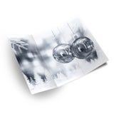 Christmas card illustration. Background Christmas balls card illustration Royalty Free Stock Image