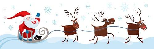 Christmas card. Vector Illustration of a christmas card Stock Photo