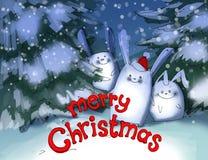 Christmas card illustration Stock Photography