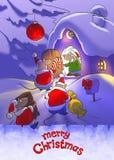 Christmas card illustration Stock Photos