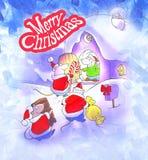 Christmas card illustration Royalty Free Stock Photos
