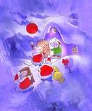 Christmas card illustration Royalty Free Stock Photo