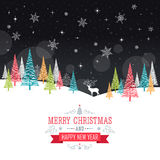 Christmas Card - Illustration. Stock Photo