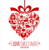Christmas card. Stock Photos
