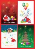 Christmas card illustrations Stock Photos