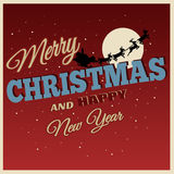Christmas Card In Vintage Style Royalty Free Stock Images