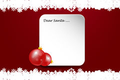 Christmas card with inscription Dear Santa Royalty Free Stock Photography