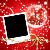 Christmas card instant photo frame Royalty Free Stock Images