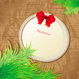 Christmas card invitation Stock Images