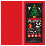 Christmas card invitation with Angel Stock Photos