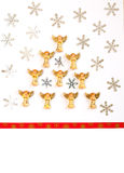 Christmas card, invitation, Christmas tree angels Royalty Free Stock Images