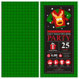 Christmas card invitation royalty free illustration