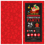 Christmas card invitation with Santa Claus Royalty Free Stock Image