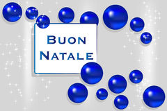 Christmas card - Italian royalty free stock photo