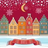 Christmas Card. Joyeux Noel. Stock Images