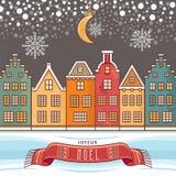 Christmas Card. Joyeux Noel. Royalty Free Stock Image