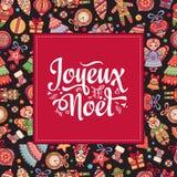 Christmas Card. Joyeux Noel. France Royalty Free Stock Photos