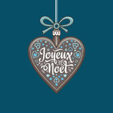 Christmas card. Joyeux Noel. Holiday Background. Stock Image