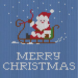 Christmas card, knitted pattern, Royalty Free Stock Images