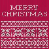 Christmas card, knitted pattern Stock Photo