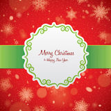 Christmas card. Label. Royalty Free Stock Photo