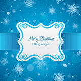 Christmas card. Label. Royalty Free Stock Images