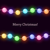 Christmas card with lights Royalty Free Stock Photo