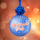 Christmas card with lights. EPS 10. Vector file included Stock Photos