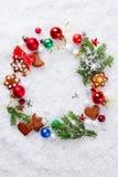 Christmas card like wreath Royalty Free Stock Photos