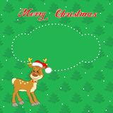 Christmas card with little  deer Royalty Free Stock Photography