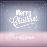 Christmas card magic night background Stock Images