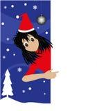 Christmas card with manga Royalty Free Stock Photos