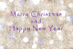 Christmas card merry Christmas and happy New Year Royalty Free Stock Photos