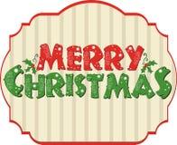 Christmas Card, Merry Christmas illustration. Label Stock Photo
