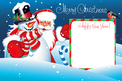 Christmas Card. Merry Christmas lettering Stock Image