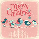 Christmas card. Merry Christmas card. Vector illustration Royalty Free Stock Photography
