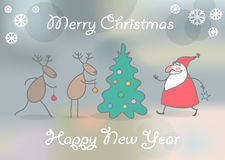 Christmas card. With mesh background. EPS 10 Stock Photos