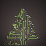 Christmas card of metro lines. Abstract metro scheme christmas card Stock Photography