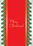 Christmas card with mistletoe Stock Photography