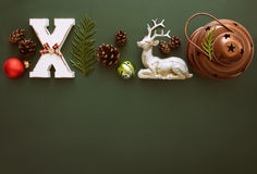 Christmas card mock up Stock Image