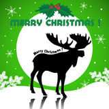Christmas card with a moose Royalty Free Stock Images