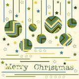 Christmas card with navajo style balls Stock Images