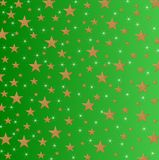 Stars and Sparkles on shaded green background. Christmas card, New Year holiday with yellow stars and and sparcled on a shaded green background royalty free illustration
