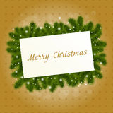 Christmas Card With New Year Tree Royalty Free Stock Photo